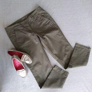 Ann Taylor LOFT Relaxed Skinny Olive Pants Sz 4